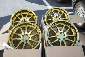 19x9 5 11 Aodhan Ds02 5x114 3 22 Gold Vacuum Rims Fits G35 Coupe 350z used