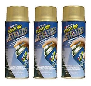 Plasti Dip Performix 3 Pack Gold Metalizer Multi Purpose Rubber Coating Spray
