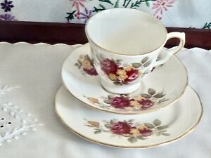 Gorgeous Vintage Bone China Royal Vale Trio Made In England Numbered