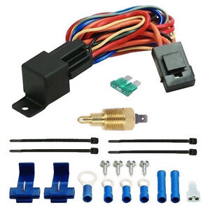 180 F Electric Fan Thermostatic Kit 1 4 Inch Temperature Probe Switch Car Truck
