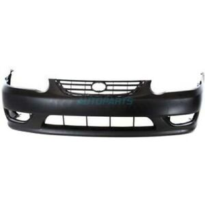 New Front Bumper Cover Primed Fits 2001 2002 Toyota Corolla To1000217