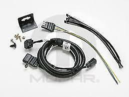 05 06 Jeep Wrangler 4 Way Flat Trailer Tow Wiring Harness Factory Mopar New Oem