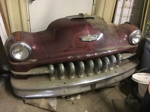 1950 S Desoto Car Real Front End 9 Teeth Hood Ornaments Headlights Bumper Hood