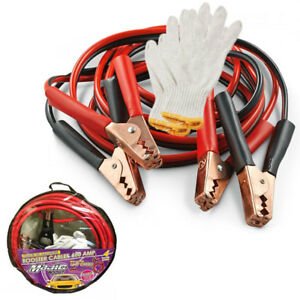 Heavy Duty Booster Cables 16 Ft 4 Gauge Jumping Cables Emergency Power Jumper