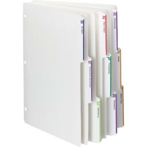 Smead 3 ring Binder Index Dividers 89413