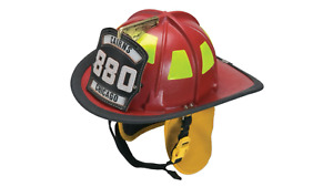 Msa Safety 10047418 Cairns 880 Traditional Thermoplastic Fire Helmet With 4 Fac