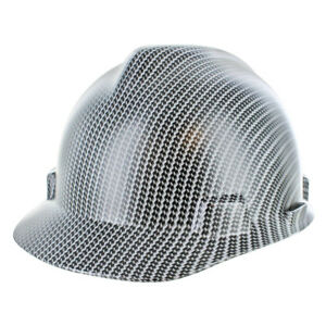 Rugged Blue Custom Hydrographic Black white Carbon Fiber Hard Hat