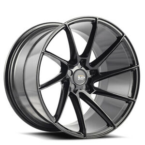 19 Savini Bm15 Black Concave Wheels Rims Fits Hyundai Genesis Coupe
