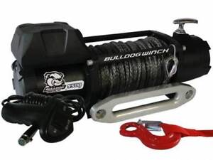Bulldog Winch 10045 9500lb W 5 5hp Motor 100ft Synthetic Rope Hawse Fairlead