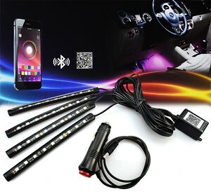 Color Changing Led Interior Car Under Dash Footwell Seats Inside Lighting Strip