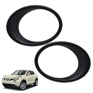 Fits Nissan Juke Hatchback 2016 2017 Pair Head Lamp Light Cover Matte Black Trim