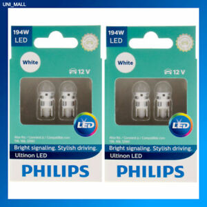 4x Philips Genuine New Ultinon 194ulwx2 194 White Led Bulb T10 158 168 12961