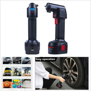 Portable Air Compressor digital Pressure Gauge 12v Car Auto Tire Inflator Pump