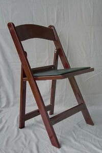 4 Commercial Resin Folding Chairs Stackable Chair Mahogany Color W padded Seat