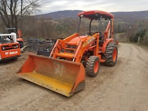 2013 Kubota M59 Tractor Loader Backhoe 4x4 Hst Ready 2 Work In Pa We Ship