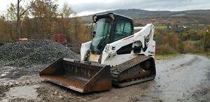 2012 Bobcat T190 Track Skid Steer Cab A c Kubota Diesel Ready To Work Finance