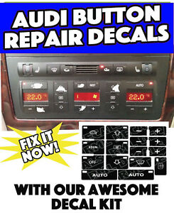 Audi A4 Ac Climate Control Button Repair Restoration Decals Stickers