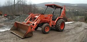 Kubota L48 Tractor Loader Backhoe Hydrostatic 4x4 Low Hours Ready To Work In Pa