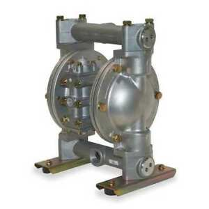 Dayton 6py48 Double Diaphragm Pump 316 Stainless Steel Air Operated