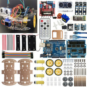 For Arduino 4wd Robot Car Kit Uno Bluetooth Ir Obstacle Avoid Line Follow L298n