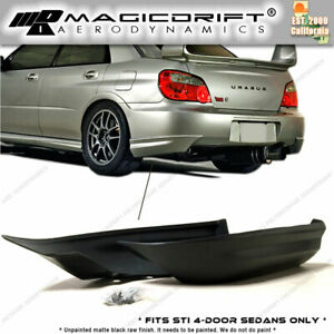 For 05 06 07 Impreza Wrx Sti Only Rear Bumper Corner Lip Spats Jdm urethane