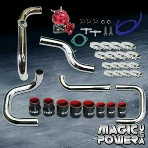 Chrome Intercooler Piping Red Rs Bov Black Couplers Kit For 1996 2000 Civic