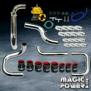 Chrome Intercooler Piping Gold Rs Bov Black Couplers Kit For 1996 2000 Civic