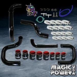 Black Intercooler Piping Neo Chrome Rs Bov Couplers Kit For 1992 1995 Civic