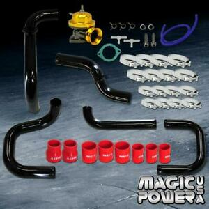 Black Intercooler Piping Gold Rs Bov Red Couplers Kit For 1996 2000 Civic