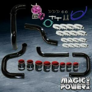 Black Intercooler Piping Purple Rs Bov Couplers Kit For 1994 2001 Integra