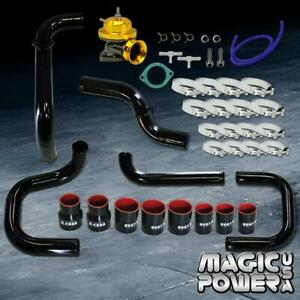 Black Intercooler Piping Gold Rs Bov Couplers Combo Kit For 1992 1995 Civic