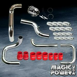 Chrome Intercooler Piping Sqv ssqv Bov Red Couplers For 1994 2001 Integra