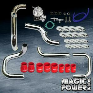 Chrome Intercooler Piping Rs Bov Red Couplers Kit For 1994 2001 Integra