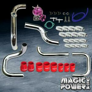 Chrome Intercooler Piping Purple Rs Bov Red Coupler Kit For 1992 1995 Civic