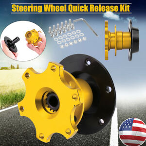 Steering Wheel Quick Release Hub Adapter Removable Snap Off Boss Neo Golden Kit
