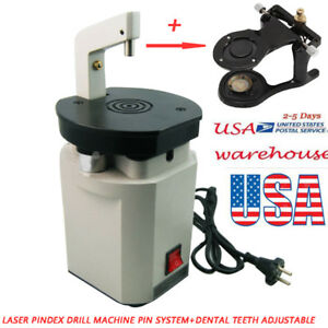 100w Dental Lab Laser Beam Pindex Drill Machine Pin Equipment Driller stand Hold