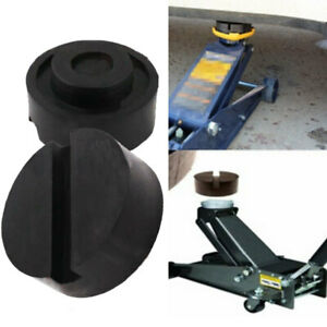 Universal Trolley Floor Jack Disk Rubber Pads For Pinch Weld Side Jackpad Hot