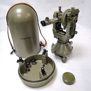 Vintage Wild Heerbrugg T3 Precision Theodolite Transit For Surveying Swiss Made