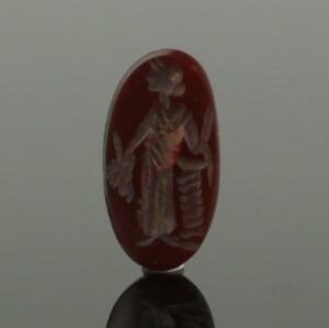 Ancient Roman Gemstone Intaglio Of Isis Fortuna Circa 2nd 3rd Century Ad