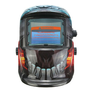 Pro Solar Auto Darkening Welding Mask Uv Ir Filter Shade Devil Pattern E