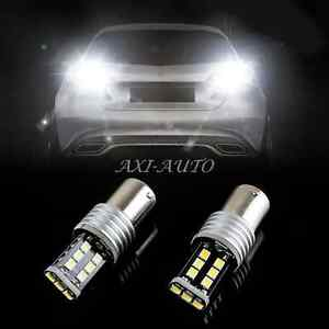2x 1156 Error Free White 7506 P21w Led Bulbs For Euro Car Backup Reverse Lights