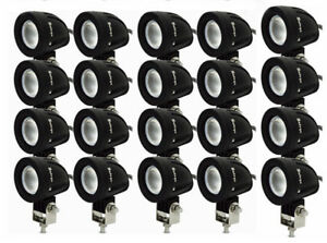 Safego 20x 10w Led Work Light Flood Round Lamp Truck Offroad Motorcycle Fog 4wd