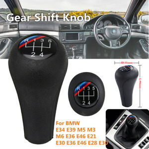 5 Speed M Colored Car Gear Shift Knob Shifter Lever Handle Stick Head For Bmw