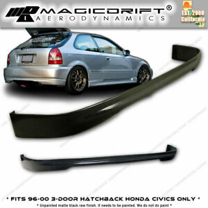 For 96 00 Honda Civic Ek9 Type R Ctr Rear Bumper Pu Lip 3dr Hatchback urethane