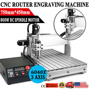 Usb Cnc Router Engraving Machine 3 Axis 6040z Cutter Crafts Carving Ball screw
