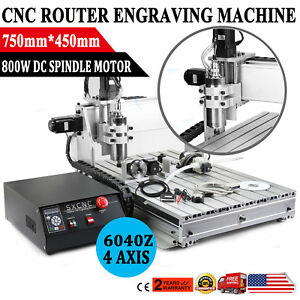 Usb Cnc Router Engraving Machine 4 Axis 6040z Cutter Crafts Carving Ball screw