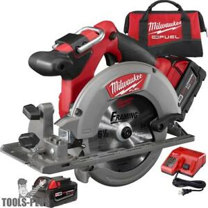 Milwaukee 2730 22 18 Volt M18 Fuel 6 1 2 Circular Saw Kit New