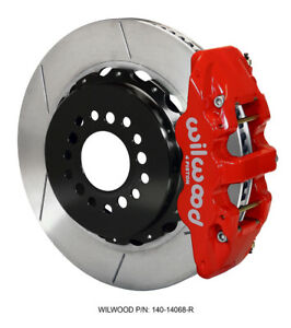 Challenger Charger Rear Big Brake Kit Calipers Slotted Rotors Red Wilwood 4pt