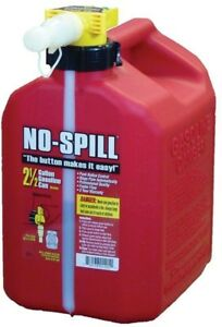 Poly Gas Can 2 5 Gallon Polyethylene Thumb Button Funnel Spout Dust Cover Screen