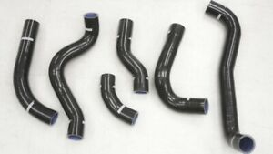 Silicone Black Intercooler Hose Kit Fit Mitsubishi Gto 3000gt Dodge Stealth